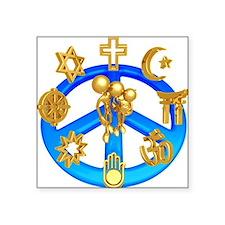 "religions.jpg Square Sticker 3"" x 3"""