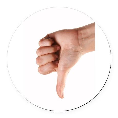 thumbs-down.jpg Round Car Magnet