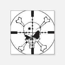 """Skull_in_Scope2sm.jpg Square Sticker 3"""" x 3"""""""