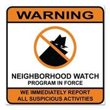 Neighborhood Watch Stickers.jpg Square Car Magnet