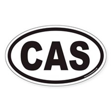 CAS Euro Oval Decal