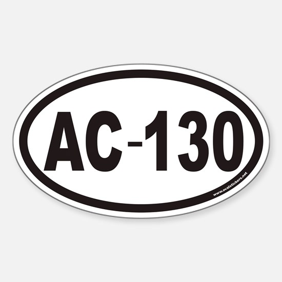 AC-130 Euro Oval Decal