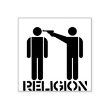 """religion_gun.gif Square Sticker 3"""" x 3"""""""