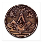Freemasonry Square Car Magnets