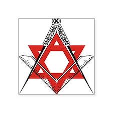 "freemasonrystar.jpg Square Sticker 3"" x 3"""