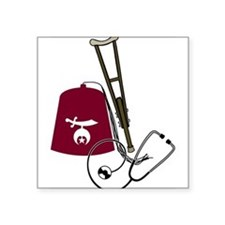"shriners.gif Square Sticker 3"" x 3"""