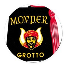 grotto.jpg Round Car Magnet