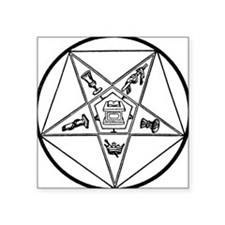 "OES-BW.gif Square Sticker 3"" x 3"""