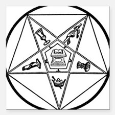 """OES-BW.gif Square Car Magnet 3"""" x 3"""""""
