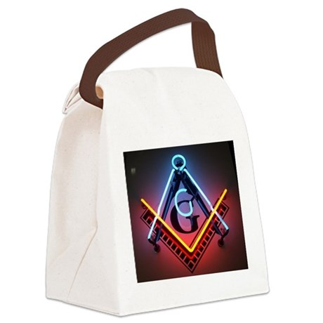 neon-square.jpg Canvas Lunch Bag