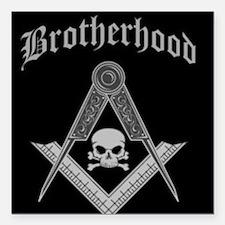 "brotherhood.jpg Square Car Magnet 3"" x 3"""