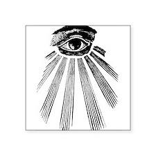 "all-seeing_eye.gif Square Sticker 3"" x 3"""