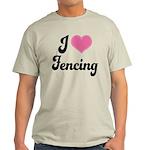 I Love Fencing Light T-Shirt