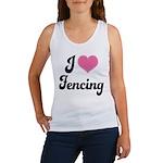 I Love Fencing Women's Tank Top