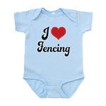 I Love Fencing Infant Bodysuit