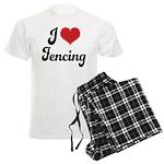 I Love Fencing Men's Light Pajamas