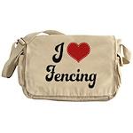 I Love Fencing Messenger Bag