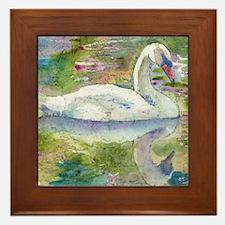 Swan Song Framed Tile