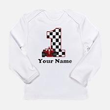 1st Birthday Race Long Sleeve Infant T-Shirt