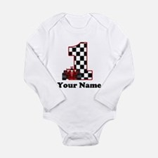 1st Birthday Race Long Sleeve Infant Bodysuit