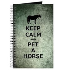 Keep Calm Pet A Horse Journal
