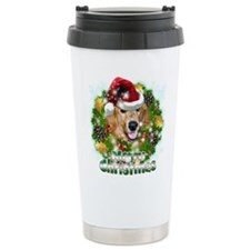 Merry Christmas Golden Retriever.png Travel Mug