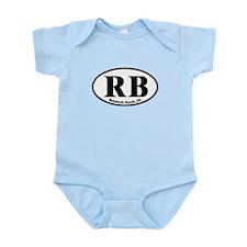 RB Rehoboth Beach Oval Infant Bodysuit