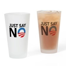 Just Say No Drinking Glass