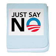Just Say No baby blanket