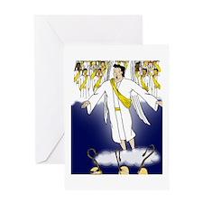 Angel choir Greeting Cards