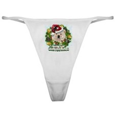 Merry Christmas Chow Chow.png Classic Thong