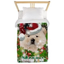 Merry Christmas Chow Chow.png Twin Duvet