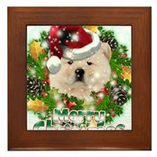 Merry Christmas Chow Chow.png Framed Tile