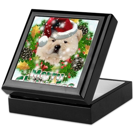 Merry Christmas Chow Chow.png Keepsake Box