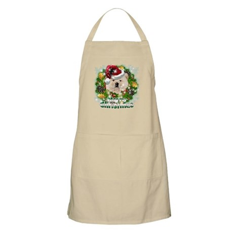 Merry Christmas Chow Chow.png Apron