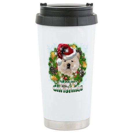 Merry Christmas Chow Chow.png Stainless Steel Trav
