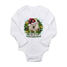 Merry Christmas Chow Chow.png Long Sleeve Infant B