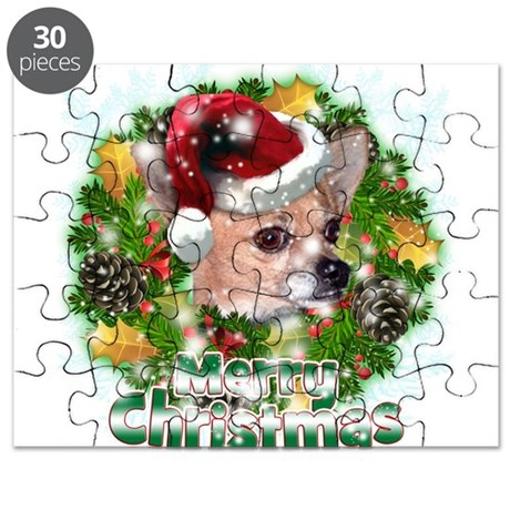 Merry Christmas Chihuahua.png Puzzle