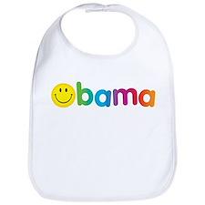 Obama Smiley Face Bib