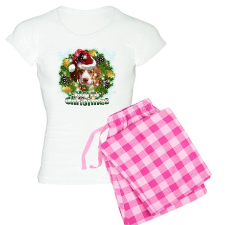 Merry Christmas Brittany Spaniel.png Women's Light