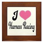 I Love Harness Racing Framed Tile