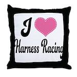 I Love Harness Racing Throw Pillow