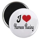 I Love Harness Racing Magnet