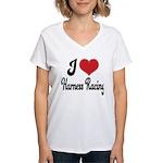 I Love Harness Racing Women's V-Neck T-Shirt