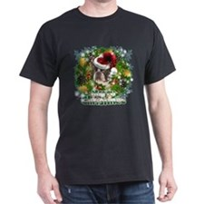Merry Christmas Boston Terrier.png T-Shirt