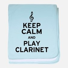 Keep Calm Clarinet baby blanket