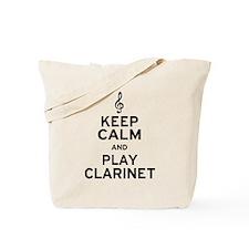 Keep Calm Clarinet Tote Bag