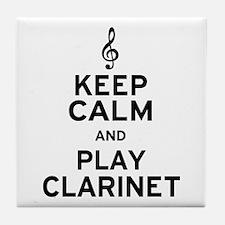 Keep Calm Clarinet Tile Coaster