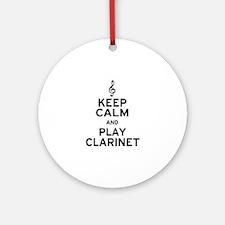 Keep Calm Clarinet Ornament (Round)