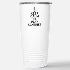Keep Calm Clarinet Travel Mug